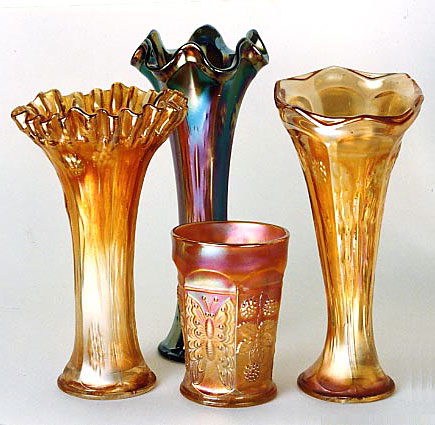 Butterfly And Berry Vases