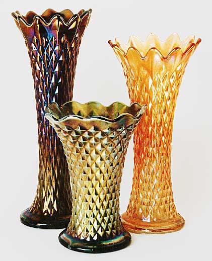 Diamond Point Vases