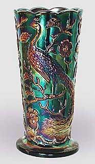 Fenton Peacock Vases