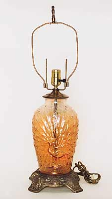These Interesting Items Are Found Two Ways; Either As A Vase (undrilled) Or  Drilled To Make A Lamp Base  Sometimes Actually Mounted To Make A Lamp  (right ...